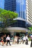 Vida empresarial de Singapur Imagen de archivo libre de regalías