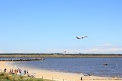 Vida en el aeropuerto Sydney Imágenes de archivo libres de regalías