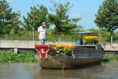 Vida en el delta del Mekong, Vietnam Fotos de archivo