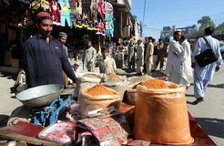 Vida en el valle del golpe violento, Paquistán Foto de archivo libre de regalías