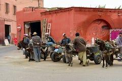 Vida en las calles de Marrakesh Imagenes de archivo
