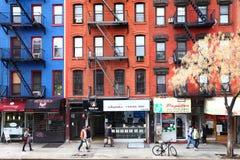 Vida en las calles de New York City Foto de archivo libre de regalías