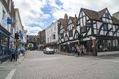 Vida en las calles de Salisbury Fotografía de archivo