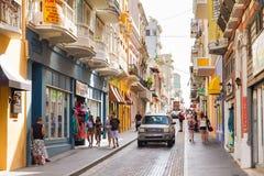 Vida en las calles de San Juan imagen de archivo