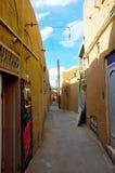 VIDA EN LAS CALLES TRADICIONAL EN YAZD Foto de archivo libre de regalías