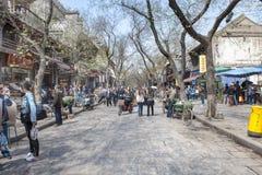 Vida en las calles Xian céntrico, China Imágenes de archivo libres de regalías