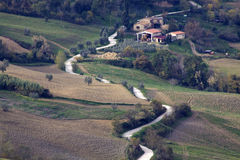 Vida en las colinas de Toscana Foto de archivo