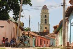 Vida en Trinidad, Cuba Imagen de archivo