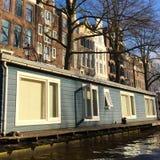 Vida en un río en Amsterdam Fotos de archivo libres de regalías
