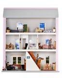 Vida en una casa de muñeca Foto de archivo