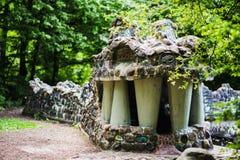 Vida - escultura da serpente do tamanho da pedra Fotografia de Stock Royalty Free