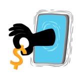 Vida esperta e dinheiro do telefone Fotos de Stock Royalty Free