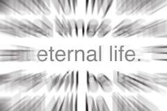 Vida eterna en escritura ilustración del vector