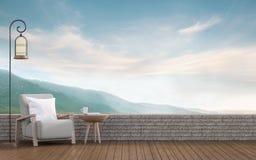 Vida exterior com imagem da rendição do Mountain View 3d Ilustração do Vetor