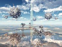Vida extraterrestre Imágenes de archivo libres de regalías