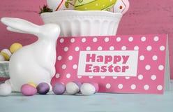 Vida feliz de Pascua aún con el conejito Foto de archivo