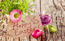 Vida feliz del fondo de Pascua aún Imagen de archivo libre de regalías