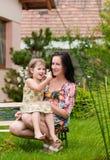 Vida feliz - matriz e criança Fotografia de Stock