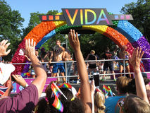 Vida Float an der Parade stockfotos