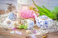 Vida floral de la primavera aún con el jacinto Foto de archivo