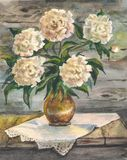 Vida imóvel floral em cores mornas fotografia de stock royalty free