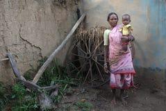 Vida indiana da vila Fotos de Stock Royalty Free