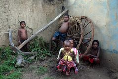 Vida indiana da vila Imagem de Stock Royalty Free
