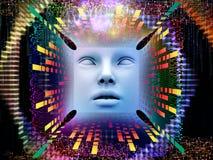 Vida interna del ser humano estupendo AI Foto de archivo