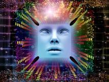 Vida interna do ser humano super AI Foto de Stock Royalty Free