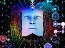 Vida interna do ser humano super AI Imagens de Stock