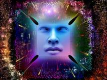 Vida interna do ser humano super AI Imagem de Stock