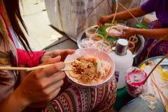 Vida local Myanmar Imagens de Stock