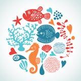 Vida marinha ilustração royalty free