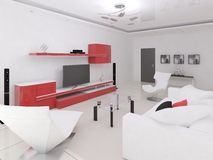 Vida moderna interior Ilustração Stock