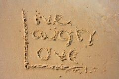 Vida na areia Fotografia de Stock