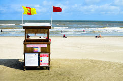 Vida na praia fotografia de stock
