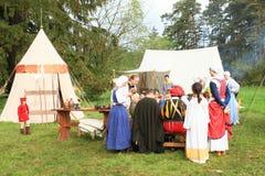 Vida no acampamento do landsknechtsFotografia de Stock