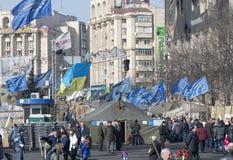 Vida no Maidan Fotografia de Stock Royalty Free