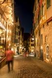 Vida nocturna alemana tradicional de la calle Fotografía de archivo