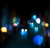 Vida nocturna de la ciudad Imagen de archivo libre de regalías