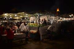 Vida nocturna de Marrakesh Foto de archivo libre de regalías