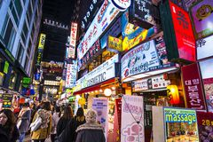 Vida nocturna de Seul Imagen de archivo libre de regalías