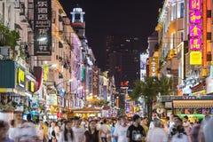 Vida nocturna de Xiamen, China Imagen de archivo libre de regalías