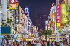 Vida nocturna de Xiamen, China Imagen de archivo