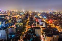 Vida nocturna en Hanoi Foto de archivo