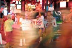 Vida nocturna en la calle que recorre en Pattaya Foto de archivo