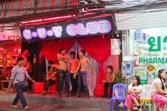 Vida nocturna en Pattaya, Tailandia. Foto de archivo libre de regalías