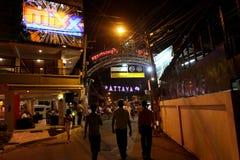 Vida nocturna en Pattaya, Tailandia. Imágenes de archivo libres de regalías