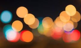 Vida nocturna hermosa del bokeh mucho más Fotografía de archivo