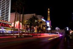 Vida nocturna a lo largo de la tira de Las Vegas Imagen de archivo libre de regalías